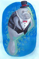 Tuxedo Manatee by chubby-manatee