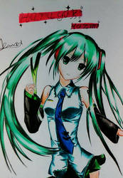 Hatsune Miku TraFanArt by Ayashimakaze