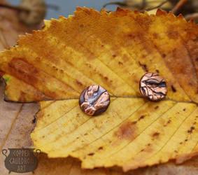 Copper earstuds by NoctiLuna