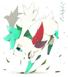 Shaymin Commission by purpleninfy