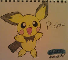 Pichu by RANDOM-drawer357