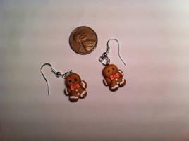 Gingerbread Earrings ~$3 by Jenna7777777