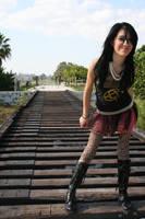 Scene girl on tracks by herstars