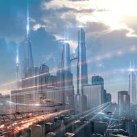 Futuristic-city by Vitaly-Sokol
