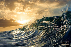 Sunset Shorebreak by Vitaly-Sokol