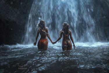 Waterfall by Vitaly-Sokol
