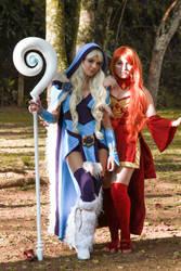 Crystal Maiden and Lina - Dota 2 by icecharizardcosplay