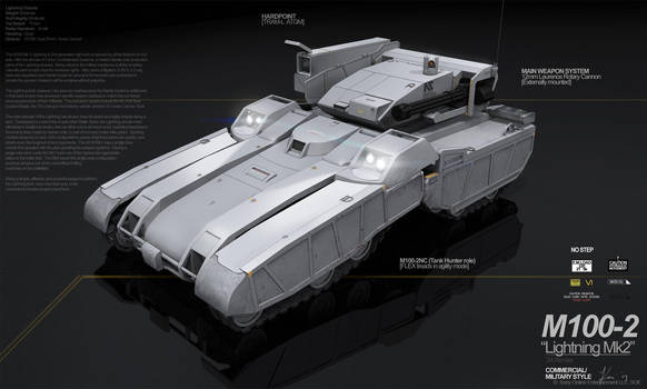 PLANETSIDE 2 Pre-Viz: M100 Lightning by ukitakumuki