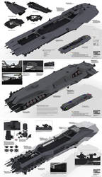 PLANETSIDE 2 Pre-Viz: BASTION FLEET CARRIER by ukitakumuki