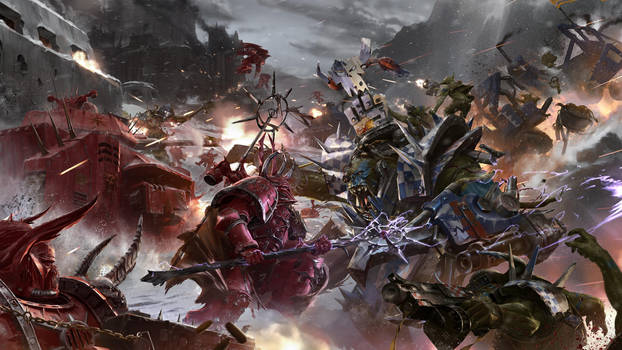 Eternal Crusade Concept Art: Massive Battle by ukitakumuki
