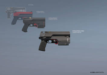 XCOM: DEEP RISING Laser Pistol by ukitakumuki