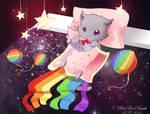 Nyancat Bed by RinRinDaishi