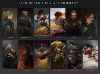 Art Summary 2017 by RinRinDaishi