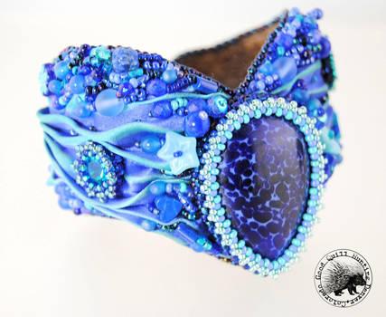 Blue Shibori Cuff by GoodQuillHunting