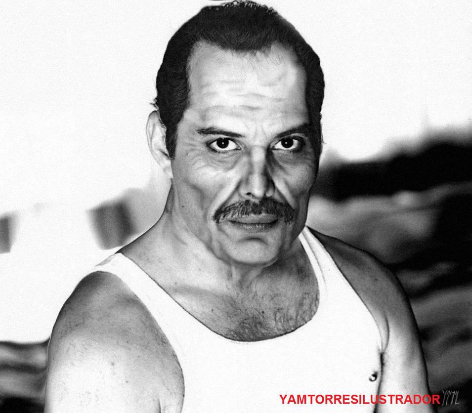 Old Freddie Mercury/ Freddie Mercury viejo by YamTorresIlustrador