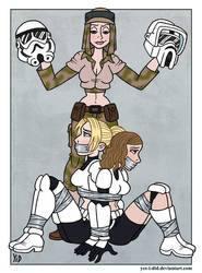 Star Wars Damsels Part 3 by Yes-I-DiD