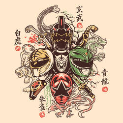 Shijin Rangers by liu-psypher