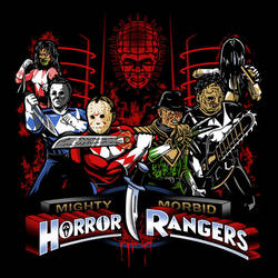 Mighty Morbid Horror Rangers by liu-psypher
