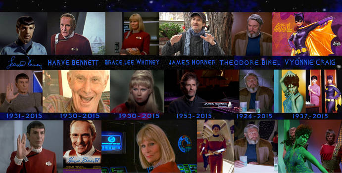 Star Trek Notable Deaths of 2015 Collage 2 by ENT2PRI9SE
