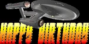 Star Trek Enterprise NCC-1701 Happy Birthday by ENT2PRI9SE