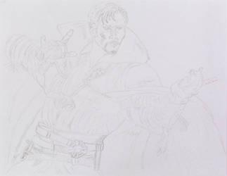 Doctor Strange Sketch 4 by ENT2PRI9SE