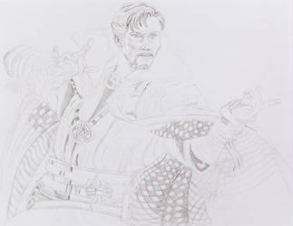 Doctor Strange Sketch 5 by ENT2PRI9SE