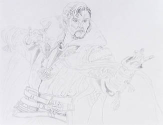 Doctor Strange Sketch 6 part 1 by ENT2PRI9SE
