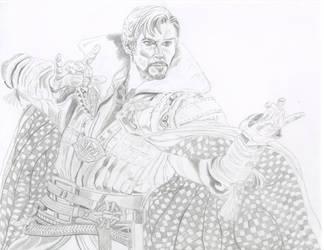 Doctor Strange Sketch 6 part 3 by ENT2PRI9SE