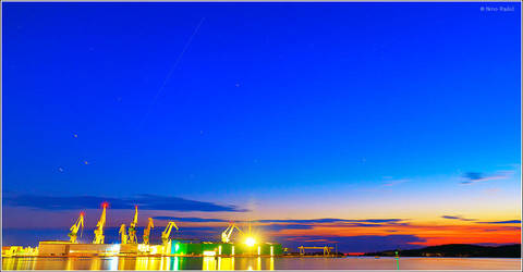 ISS passing over Pula, Croatia by nrasic