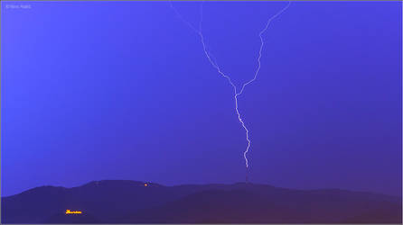 Lightning strikes tv tower 2, Zagreb Croatia by nrasic