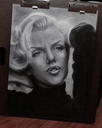 Marilyn Monroe - Charcoal - 18 x 24 in. by StevieRWilliams