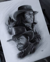 Arthur Morgan and John Marston by StevieRWilliams