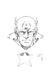 Cap International Comics Expo Sketch Request by pencilsandstrings