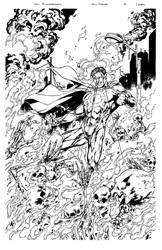 Zenescope's Evil Heroes Cover #4 inks by pencilsandstrings