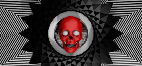 red skull - style  frame by alperdurmaz