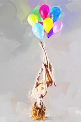 Flyingbaloongirl by jefta