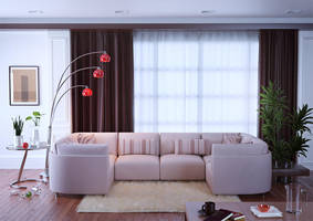 Interior with sofa by sergin3d2d