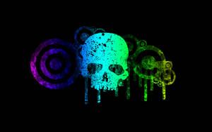 Grunge Skull by BrokenWallpapers