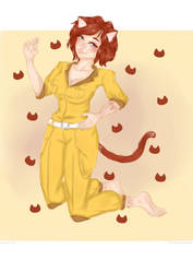 Request: Catgirl April O'Neil by lusiaax