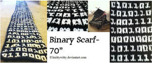Binary Scarf by knittywitty