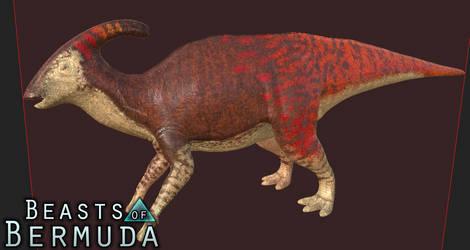 Fade Parasaurolophus by Misha-Zhirov