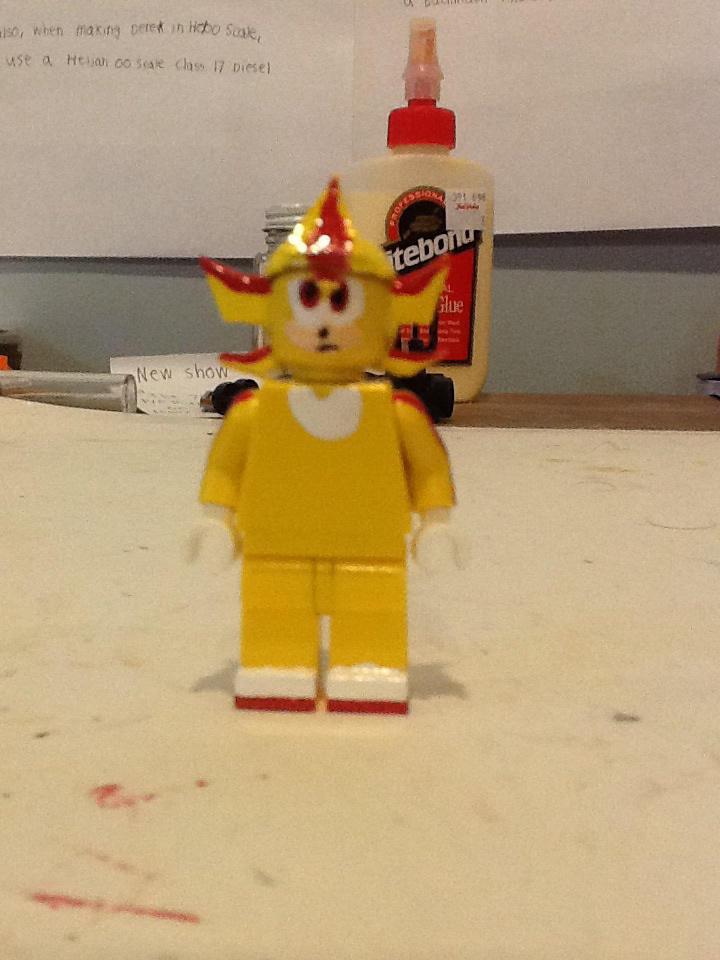 Lego custom SEGA Super Shadow by ATB1996