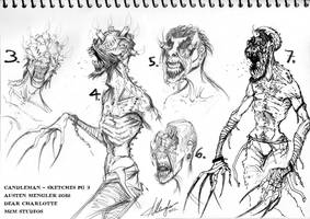 Candleman - Concept sketches pg 3 by AustenMengler
