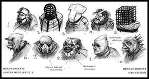 Psycho Head Concepts 01 by AustenMengler