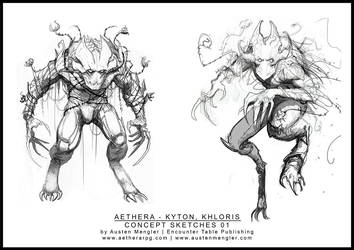 KHLORIS - Concept Sketches 01 by AustenMengler