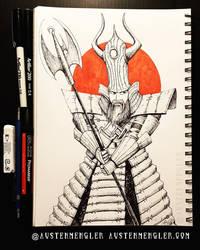 Samurai Jack - Inktober 10 2018 by AustenMengler