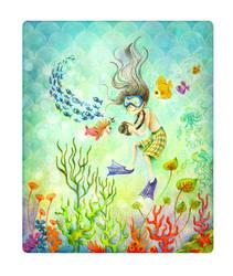 the underwater boy by cecilliahidayat