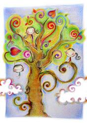 three on tree by cecilliahidayat