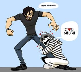 CJ loves MILO by cartoonjunkie