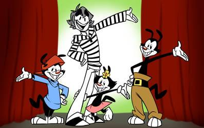 CJ and The Warners by cartoonjunkie